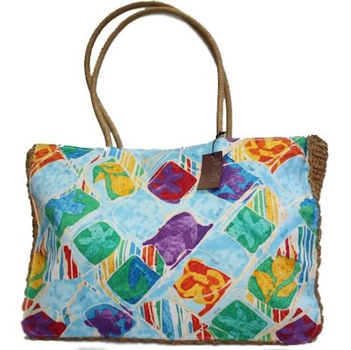 Cotton Printed Beach Handbag